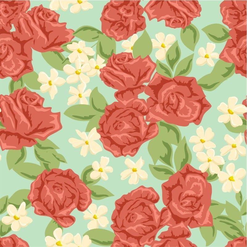 Papel De Parede Floral Rosas Vermelhas 300x59cm X4adesivos