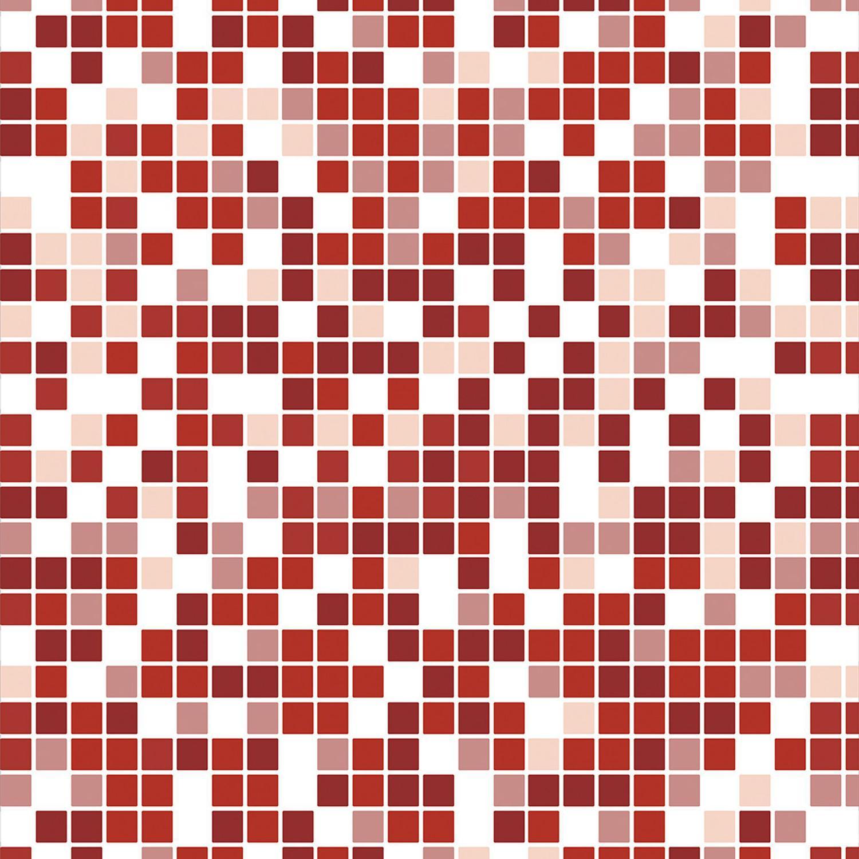Papel De Parede Pastilhas Quadriculadas Tons De Vermelho Escuro Vermelho Cereja Branco E Rosa Claro Decoraplus Papel De Parede Magazine Luiza