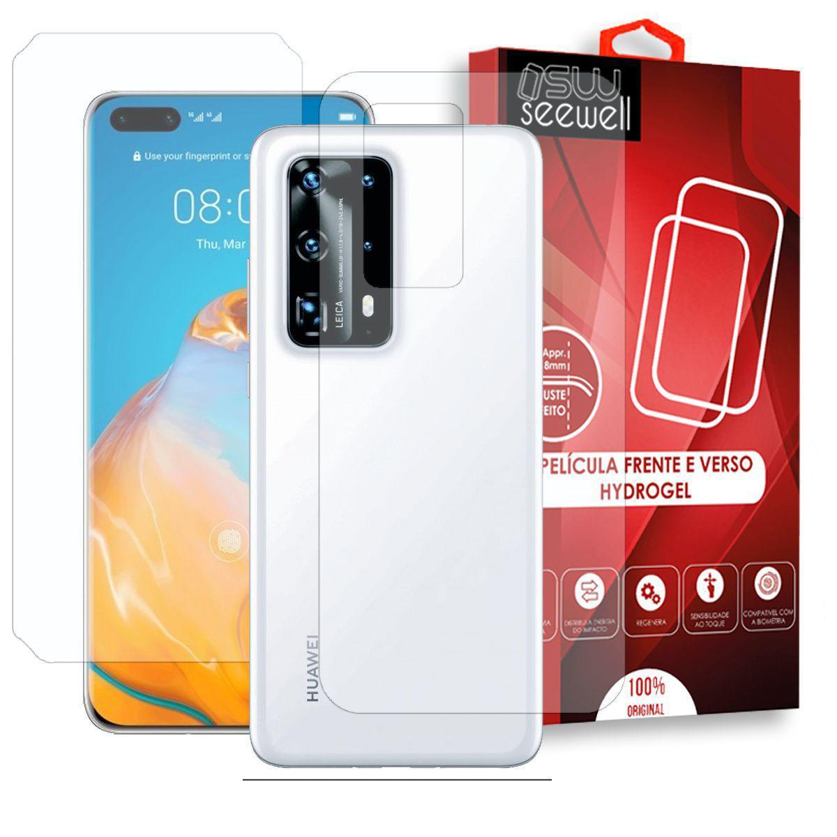 Pelicula Huawei P40 Pro Plus Hydrogel Hd Frente E Verso 100 Transparente Seewell Pelicula Para Celular Magazine Luiza