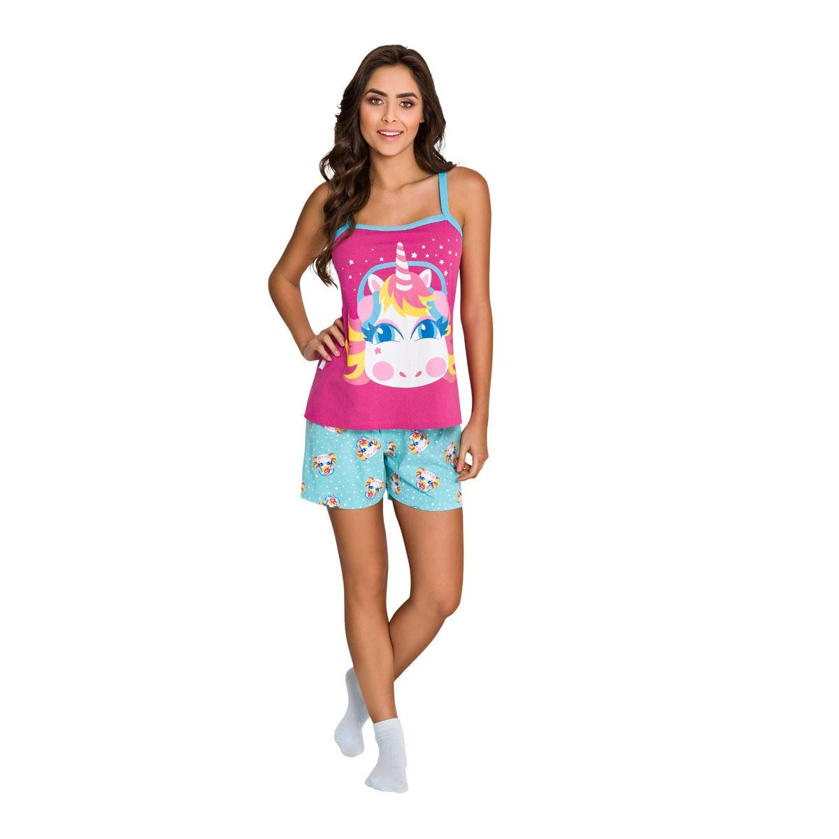 93ef3d0828 Pijama de alça adulto - unicórnio - Veggi - Roupão Adulto - Magazine ...