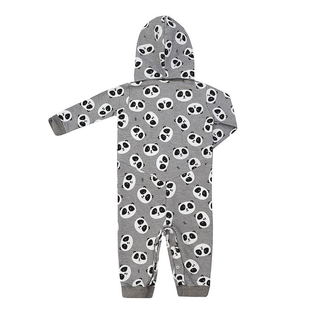 f64efef1e58ec7 Pijama Macacão Infantil Moletom Panda - Cara de crianca