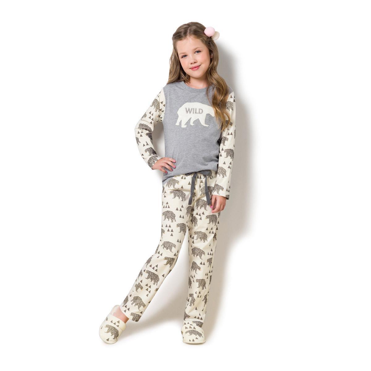 382d6bd563 Pijama manga longa infantil - louvre - Veggi - Pijama Infantil ...