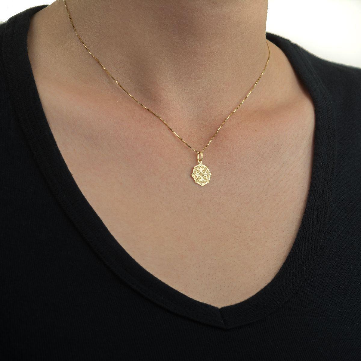 Pingente de Ouro 18k Bússola Rosa dos Ventos pi18795 - Joiasgold Produto  não disponível 1b9075ea91