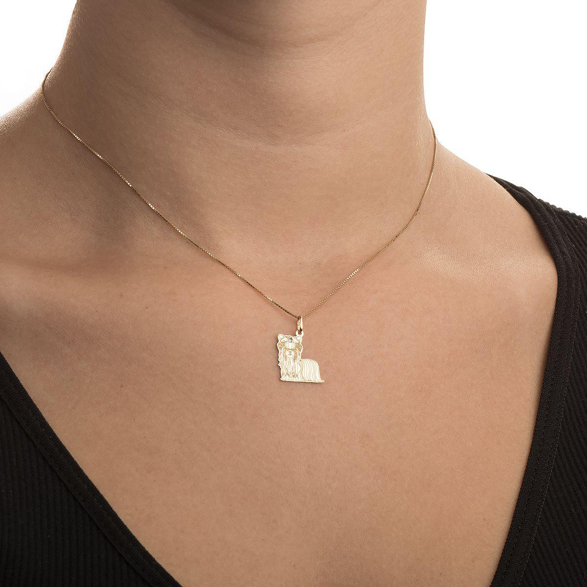 b0269cb9c123f Pingente de Ouro 18k Cachorro Yorkshire com Diamante pi18372 - Joiasgold R   557,87 à vista. Adicionar à sacola