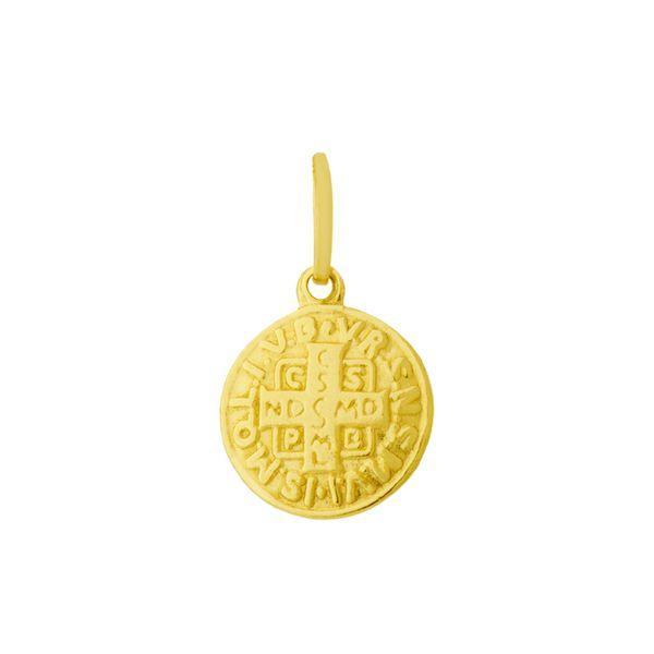 Pingente de Ouro 18k com Medalha de São Bento Pequeno pi16120 - Joiasgold  R  239,09 à vista. Adicionar à sacola 902a7e480b