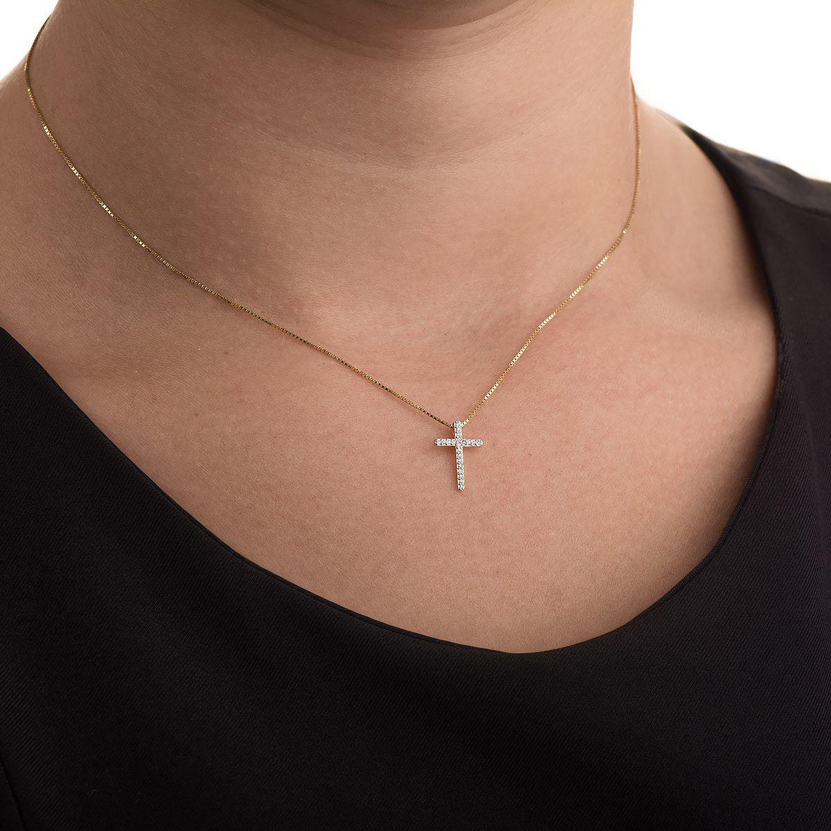 Pingente de Ouro 18k Cruz com Diamantes pi18388 - Joiasgold R  1.139,99 à  vista. Adicionar à sacola f3c81e9604