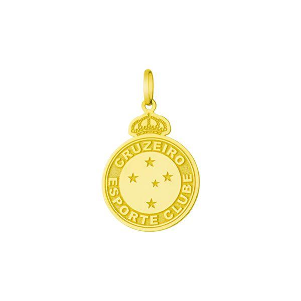 Pingente de Ouro 18k Escudo Cruzeiro Esporte Clube M pi17457 - Joiasgold R   478 7610bb03e2f36