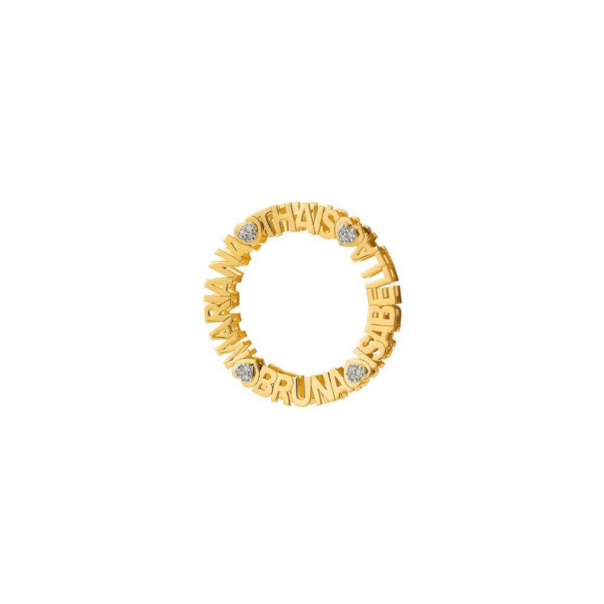 d1589e1d6 Pingente de Ouro 18k Mandala Nome até 25 Letras com Diamantes pi18593 -  Joiasgold R  2.934