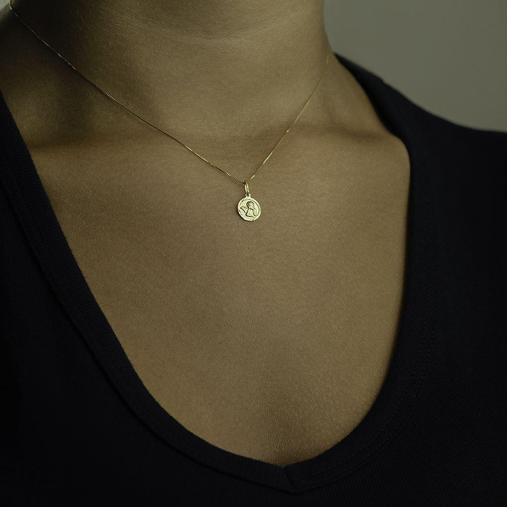 Pingente de Ouro 18k Medalha Anjo da Guarda pi16132 - Joiasgold R  332,64 à  vista. Adicionar à sacola 09c63c392c