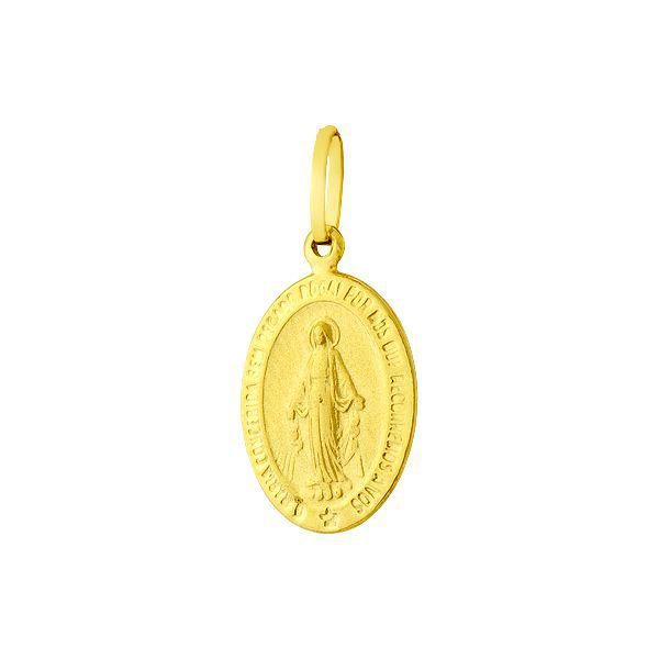 Pingente de Ouro 18k Medalha de Nossa Senhora das Graças pi01502 - Joiasgold  Produto não disponível 36ace73713