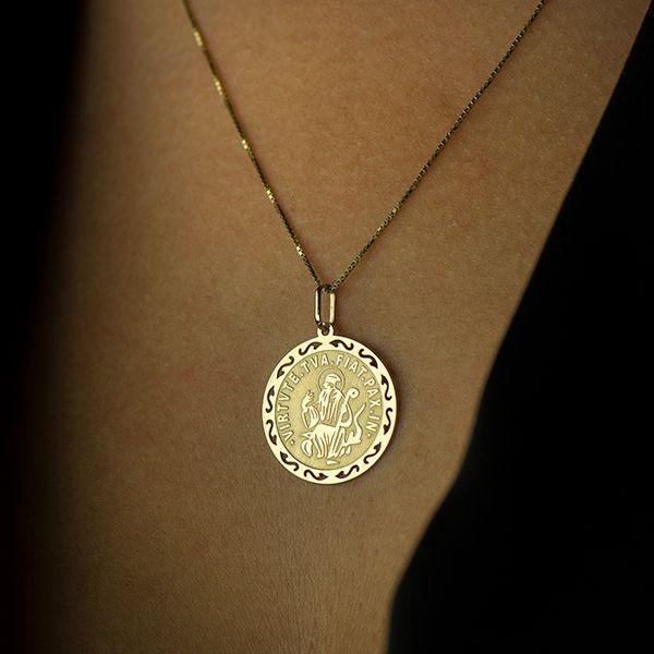 Pingente de Ouro 18k Medalha de São Bento pi16169 - Joiasgold R  1.074,15 à  vista. Adicionar à sacola e963bd9c81
