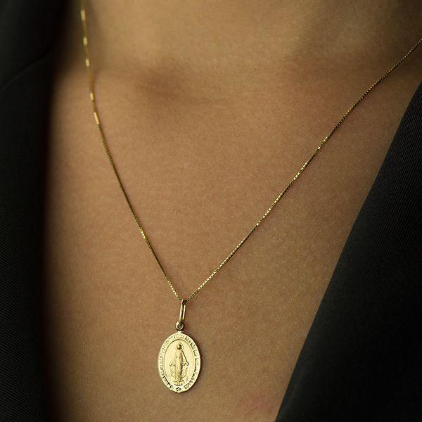Pingente de Ouro 18k Medalha Nossa Senhora das Graças pi16306 - Joiasgold R   478,17 à vista. Adicionar à sacola 6c7c1f9f48