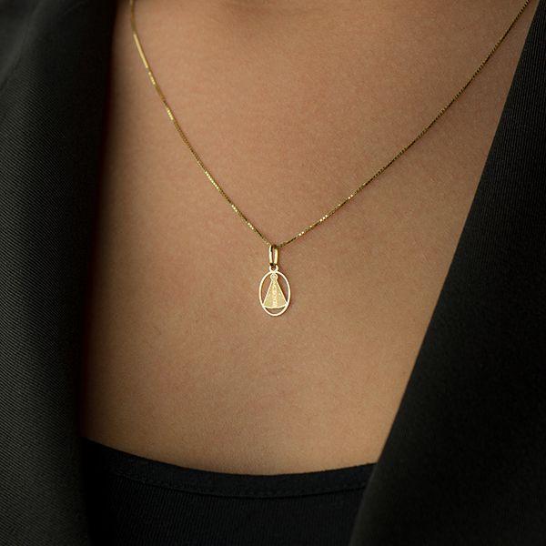 8bbfbdfe960c5 Pingente de Ouro 18k N Senhora Aparecida Vazada com Círculo PI17184 -  Joiasgold Produto não disponível