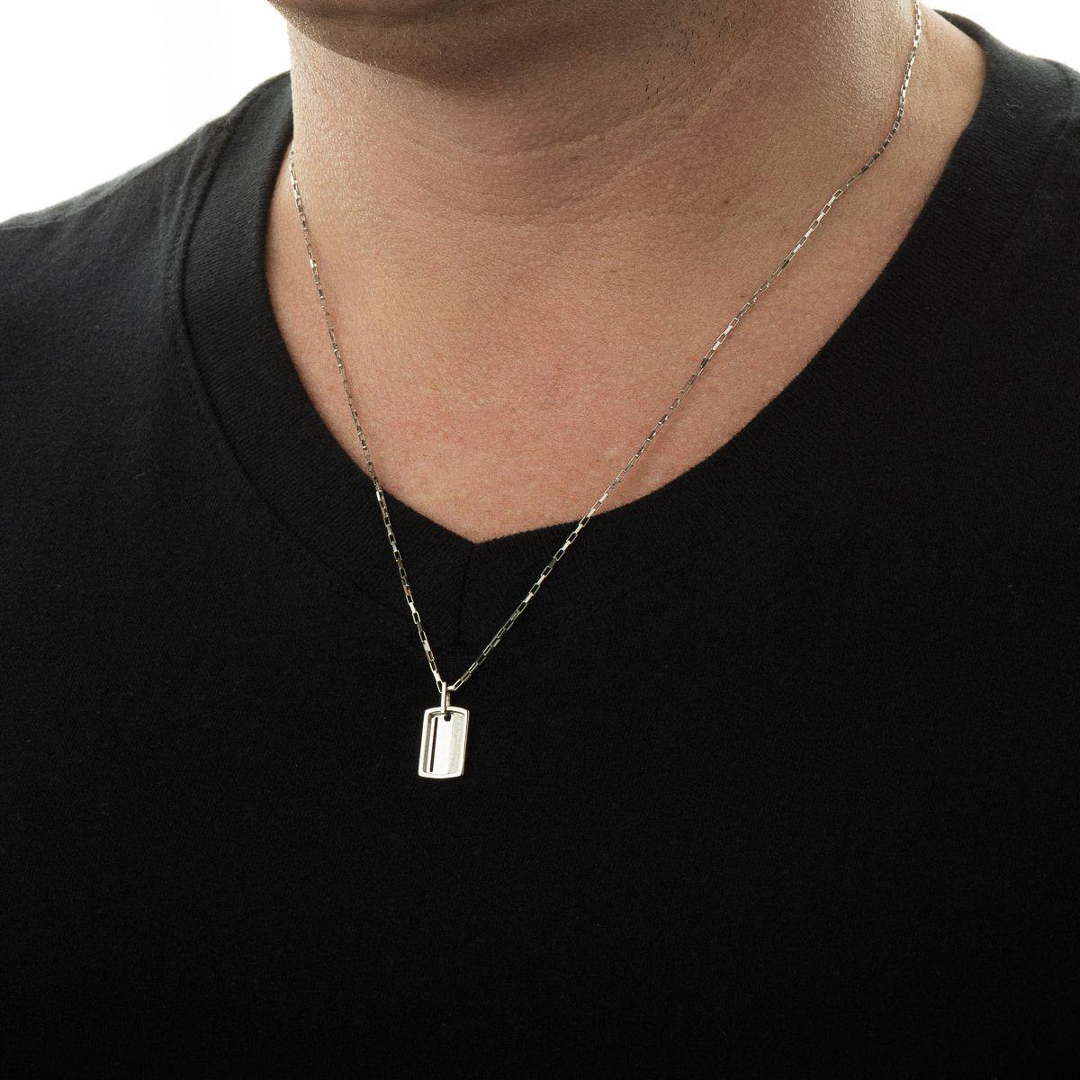 Pingente de Ouro Branco 18k Placa Retangular pi17953 - Joiasgold R   1.004,85 à vista. Adicionar à sacola 839a791a12
