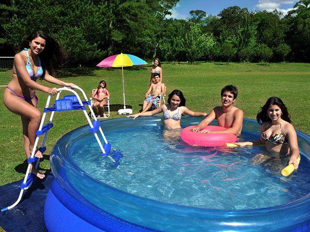 Piscina 4600 litros redonda mor splash fun piscina for Piscina 8000 litros redonda