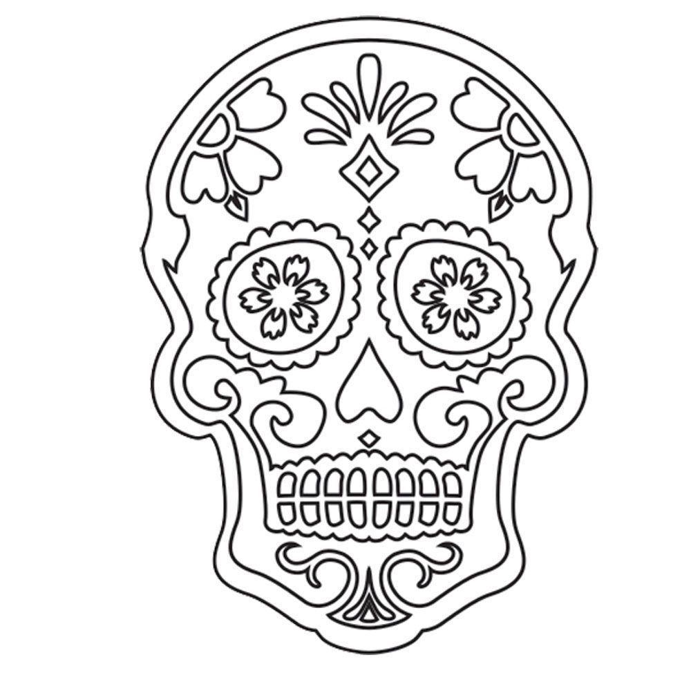 Imagens De Caveira Mexicana Para Colorir Mmod