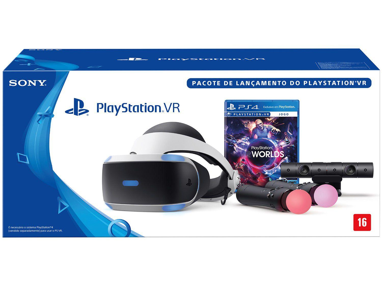 "Playstation VR Visão 360 Tela OLED 5,7"" - Sony com Jogo Worlds ... c465c8cb4c"