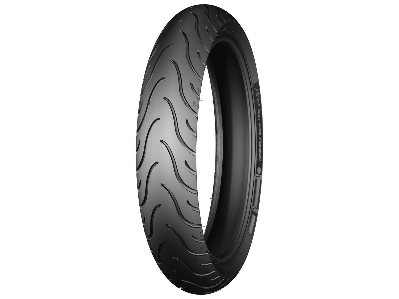 pneu moto aro 17 dianteiro michelin 120 70r17 58w pilot street pneus para motos magazine. Black Bedroom Furniture Sets. Home Design Ideas