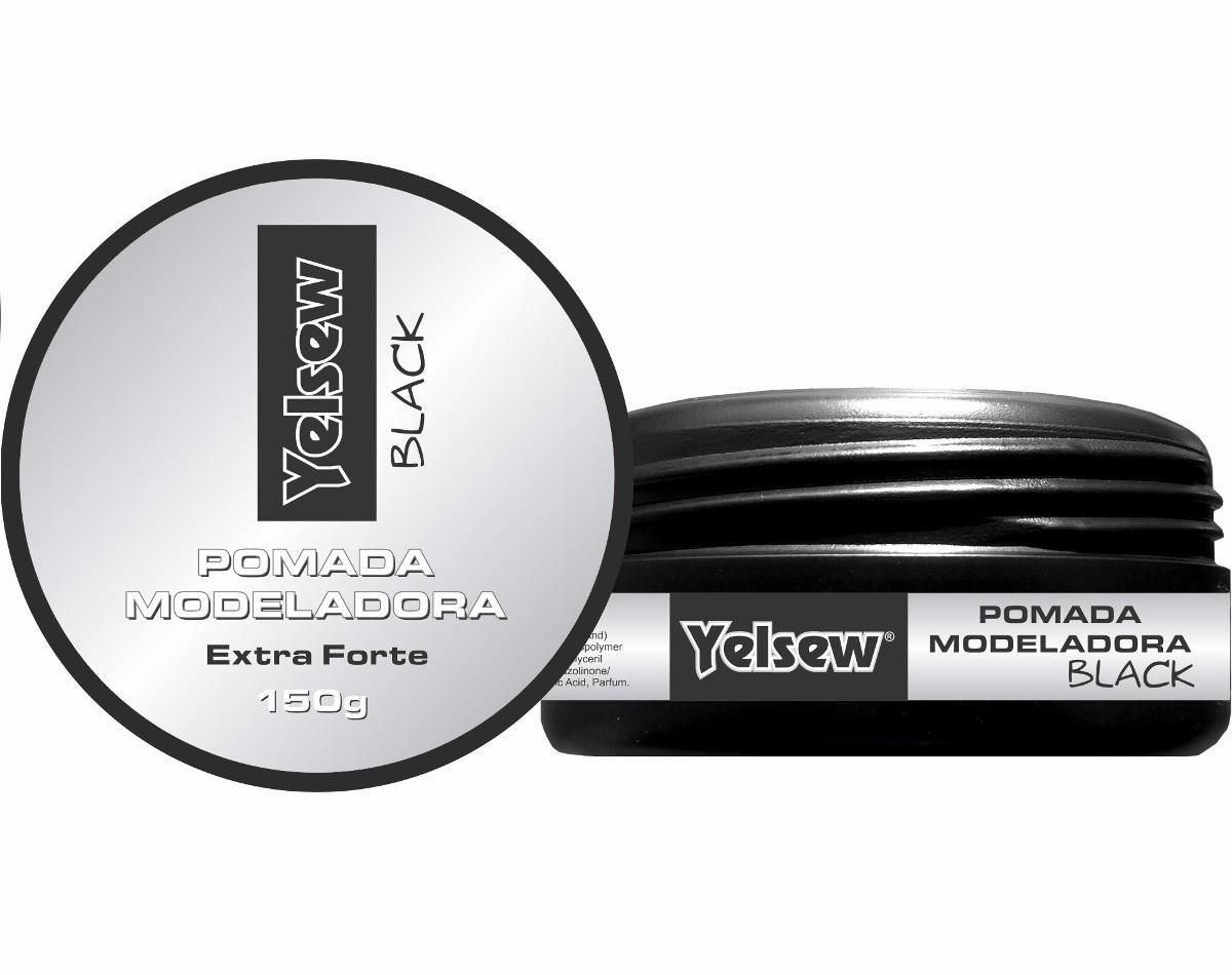 c59d85934 Pomada modeladora para cabelo masculino black   preta 150g extra forte - Yelsew  Produto não disponível
