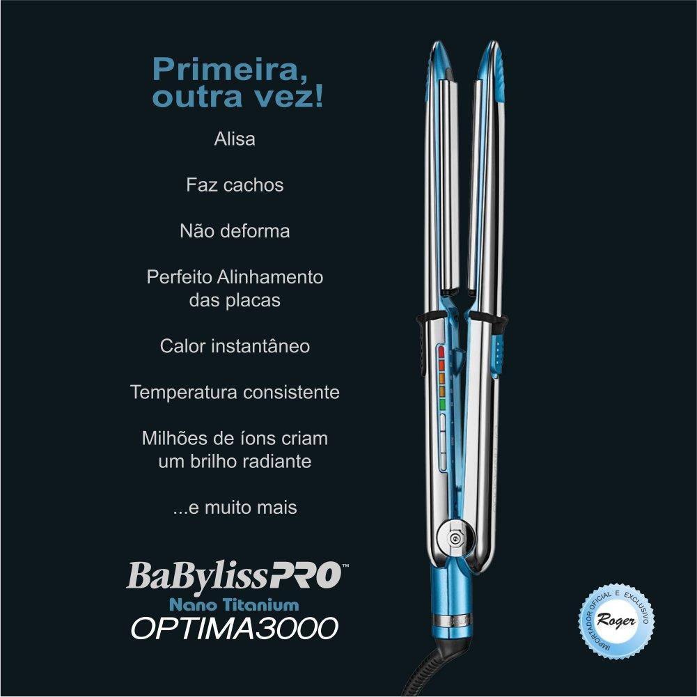e7859f72e Prancha Super Nano Titanium Babyliss PRO OPTIMA3000 1 + 1/4 - Baby liss R$  595,00 à vista. Adicionar à sacola