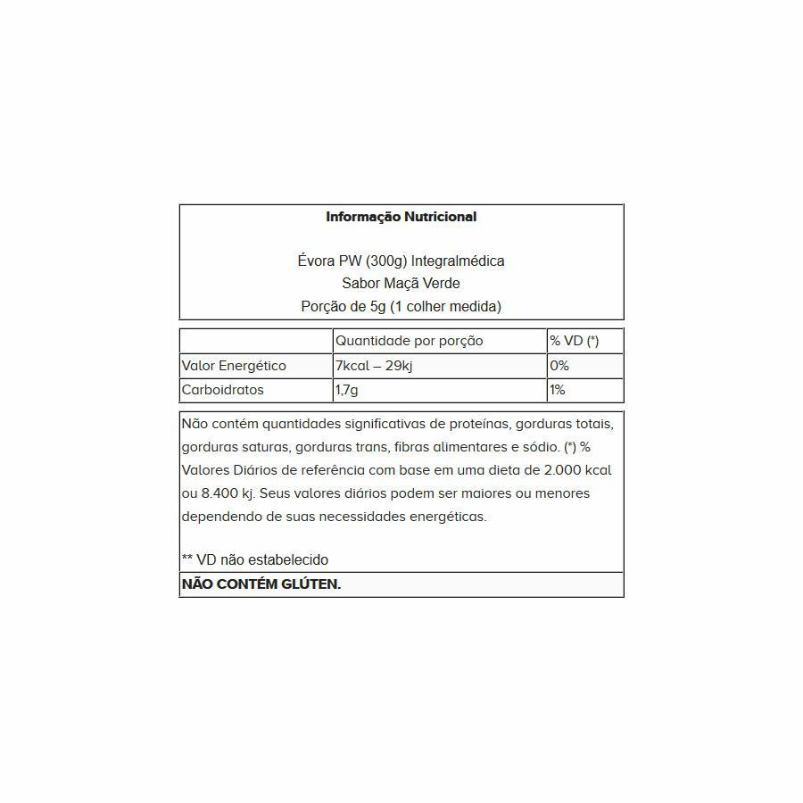 1c9edbdb54f Pre Treino Evora Pw Darkness 150g Maça verde Integralmédica - Integralmedica  Produto não disponível