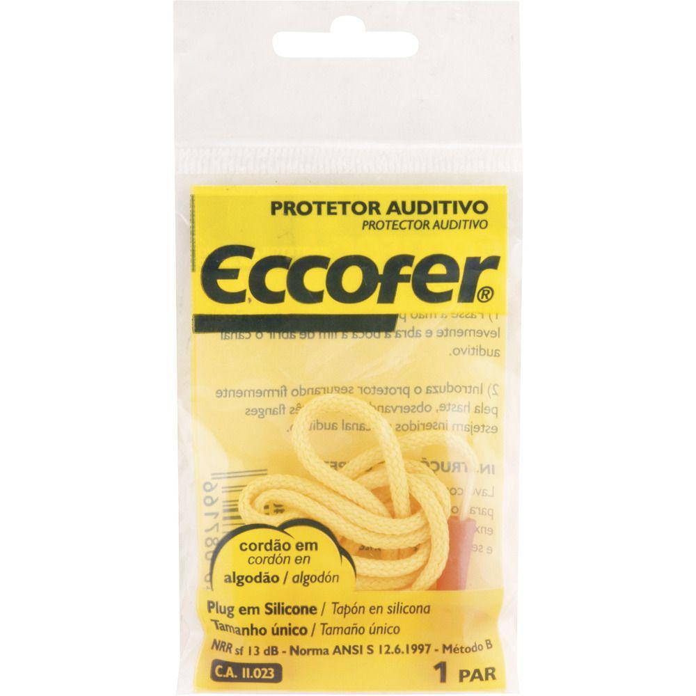 3d83c66102067 Protetor auditivo plug 13db silicone com cordão algodao ca11023 - Eccofer  Produto não disponível