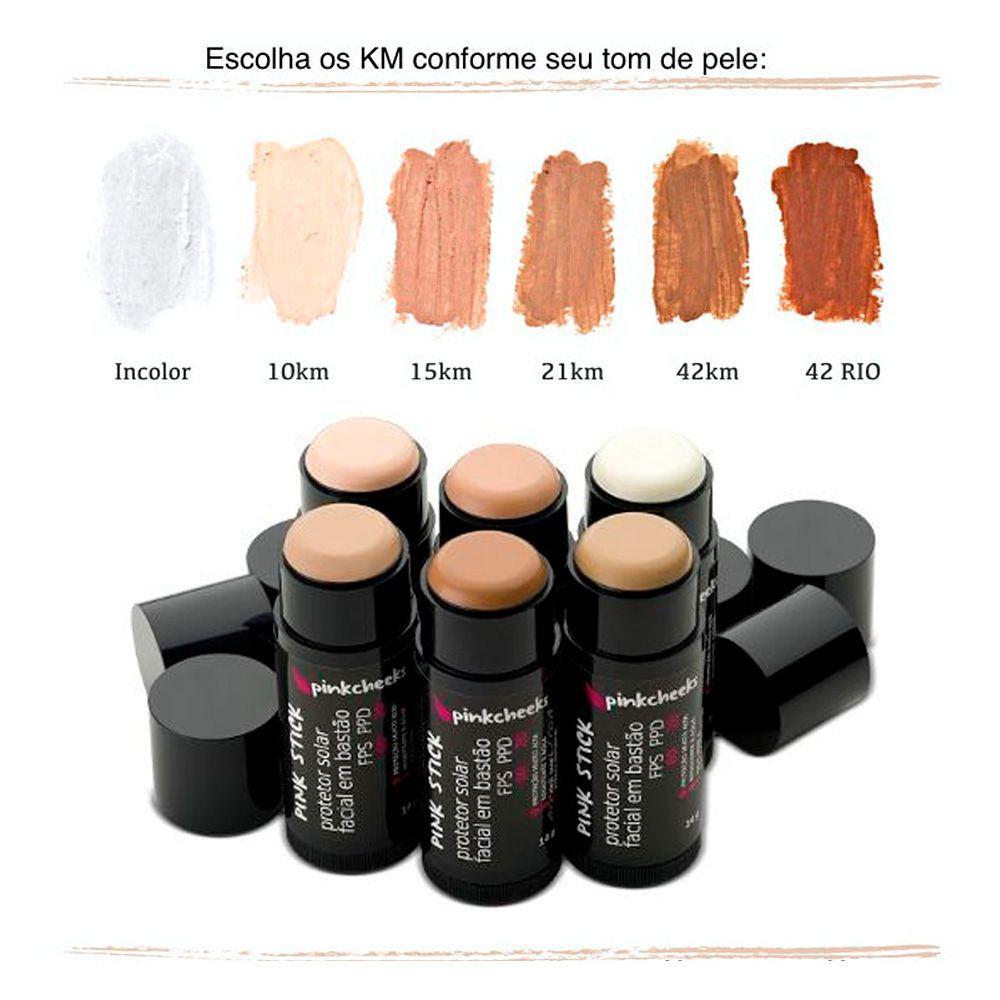 71cd2744a Protetor Solar Facial Pink Cheeks Pink Stick FPS 90 - Protetor Solar ...