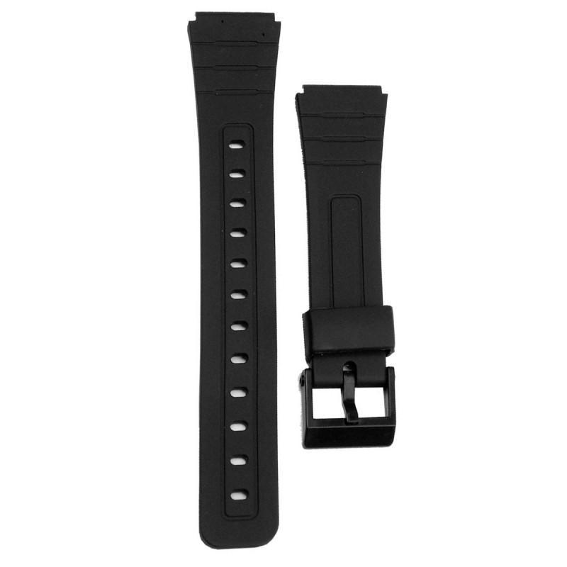1a87fd6a3ff Pulseira Compatível para Relógio Casio F105 de Silicone Preta - Oficina dos  relogios R  14