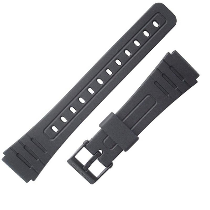 5f0d5e409f5 Pulseira Compatível para Relógio Casio F91 de Silicone Preta - Oficina dos  relogios R  14