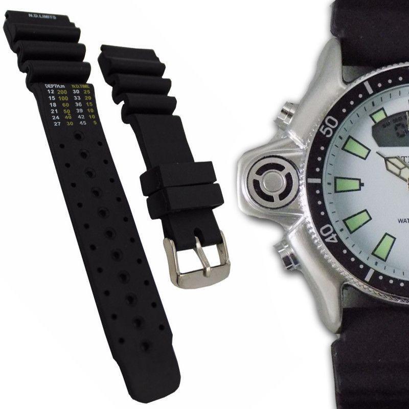 508927af927 Pulseira de Borracha para Relógio Atlantis Aqualand 24mm - Oficina dos  relógios R  14