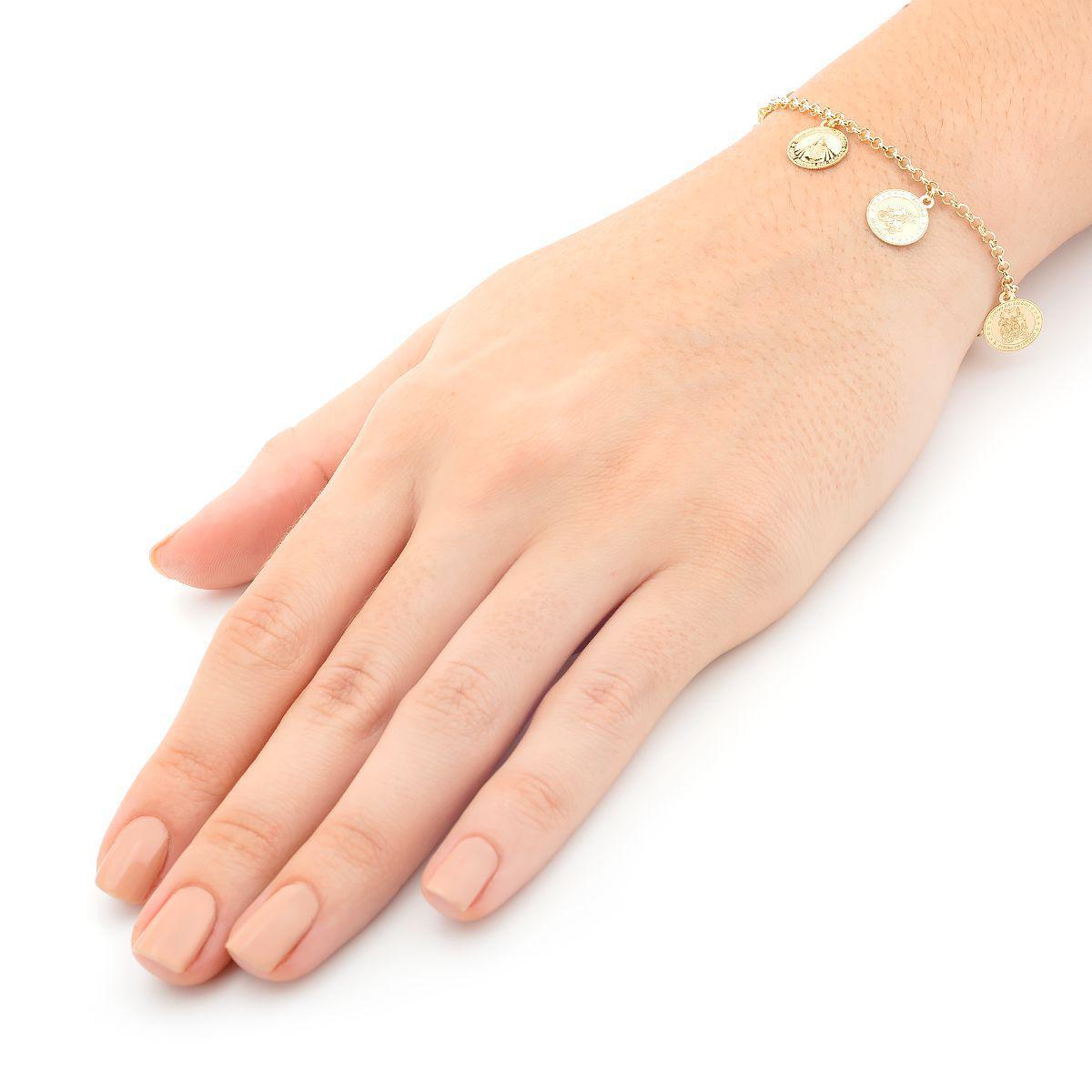 Pulseira de Ouro 18k com Berloques de Santos 19cm pu02956 - Joiasgold R   3.222,45 à vista. Adicionar à sacola a1253dd85d