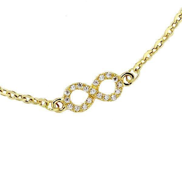 c9a3a673086bb Pulseira Infinito Ouro 18k Zircônias - cod.6717 - Retran joias R  588