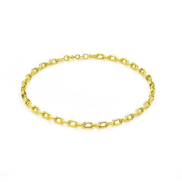 d020090c98b6b Pulseira Masculina de Ouro 18k Malha Cartier 21cm pu03029 - Joiasgold R   1.122