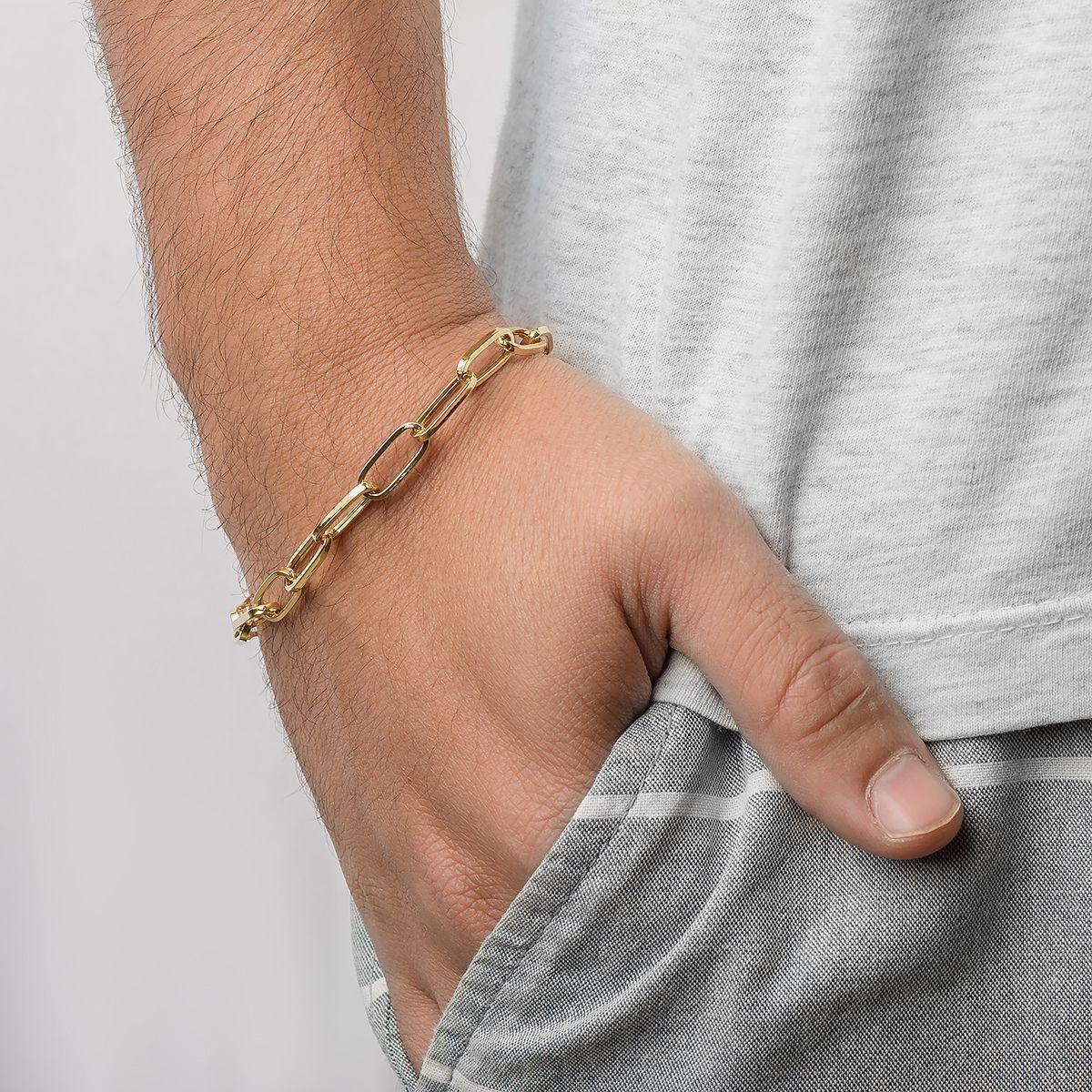 6837005b75486 Pulseira Masculina em Ouro 18k Malha Cartier Alongada com 21cm pu03435 -  Joiasgold Produto não disponível