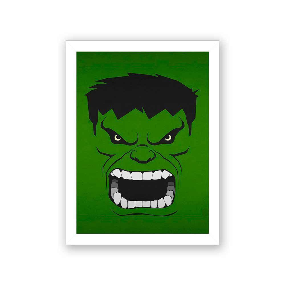 Quadro Decorativo 27x36 Desenho Hulk Quero Mais Quadros Quadro