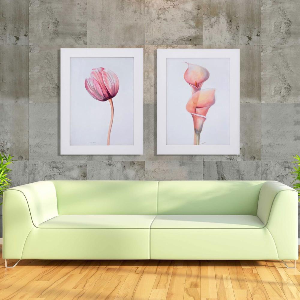 Quadro Decorativo Flor Copo De Leite Rosa Sem Vidro 60x80cm Decore Pronto