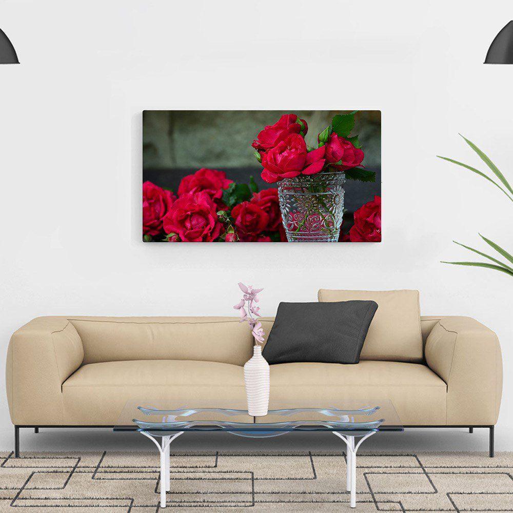 934345f33 Quadro Decorativo Flor Rosas Vermelhas 100x50cm Para Sala - Artplex R   153