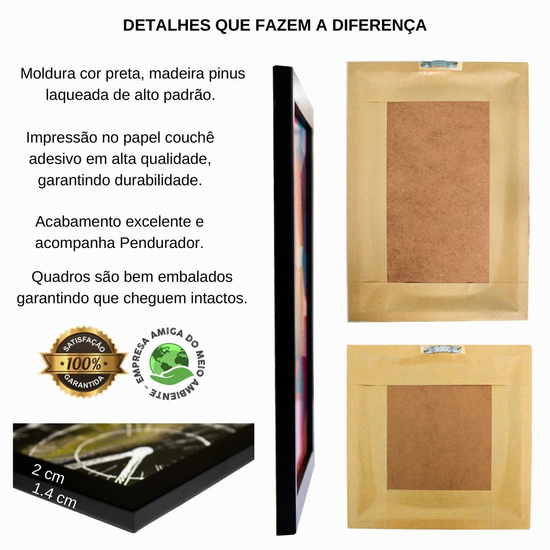 Quadro Decorativo Frase Motivacional Com Amor 33x43 Cm Art Print