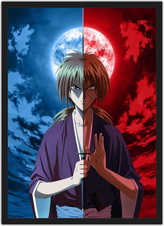 Quadro Decorativo Rurouni Kenshin Samurai X Anime Desenho Com Moldura G2 Vital Quadros Quadro Decorativo Magazine Luiza