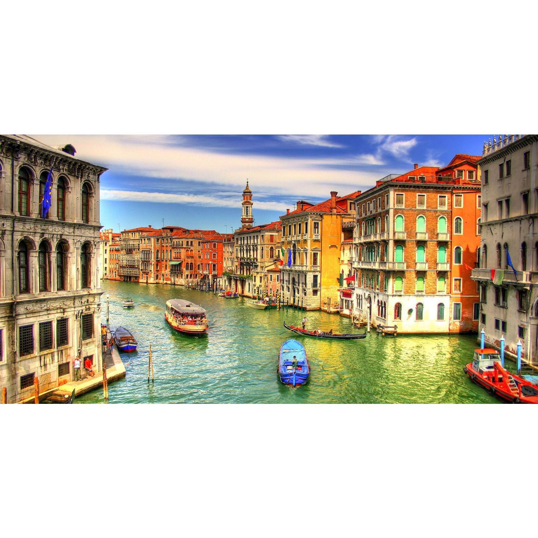 f3557c3fa64b1 Quadro Decorativo Veneza Itália Colorido Paisagem 100x50 - Bimper R  197