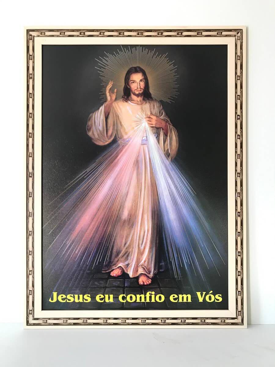 Quadro jesus misericordioso grande com moldura - Fornecedor 6 - Quadro  Decorativo - Magazine Luiza