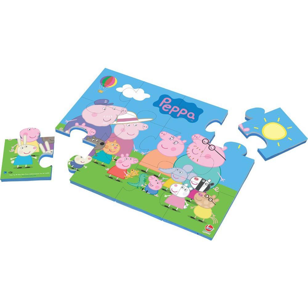 Quebra-Cabeça 12 Peças Peppa Pig 2271 - Lider - Lider brinquedos