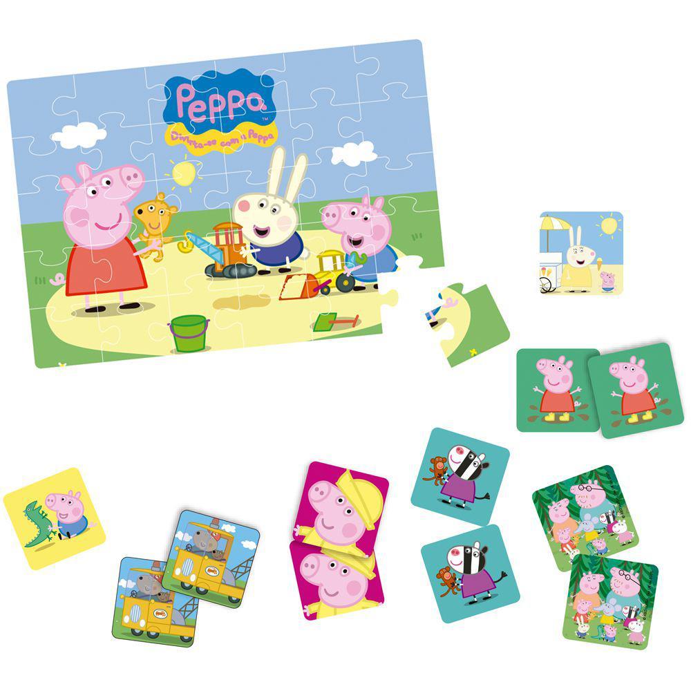 Quebra-Cabeça e Jogo da Memória - Peppa Pig - Elka - Produto não disponível