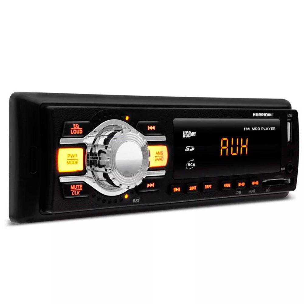 Radio Baño   Radio Mp3 Player Automotivo Hurricane Hr 412 1 Din Com Usb Sd Aux