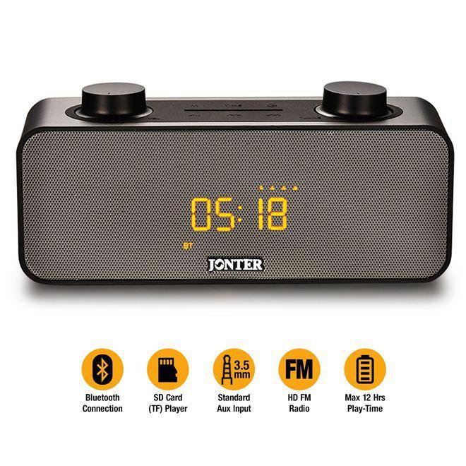 bceea705d2c Radio relogio bluetooth caixa de som portatil extreme 10w despertador usb sd  fm e auxiliar jonter - Gimp Produto não disponível
