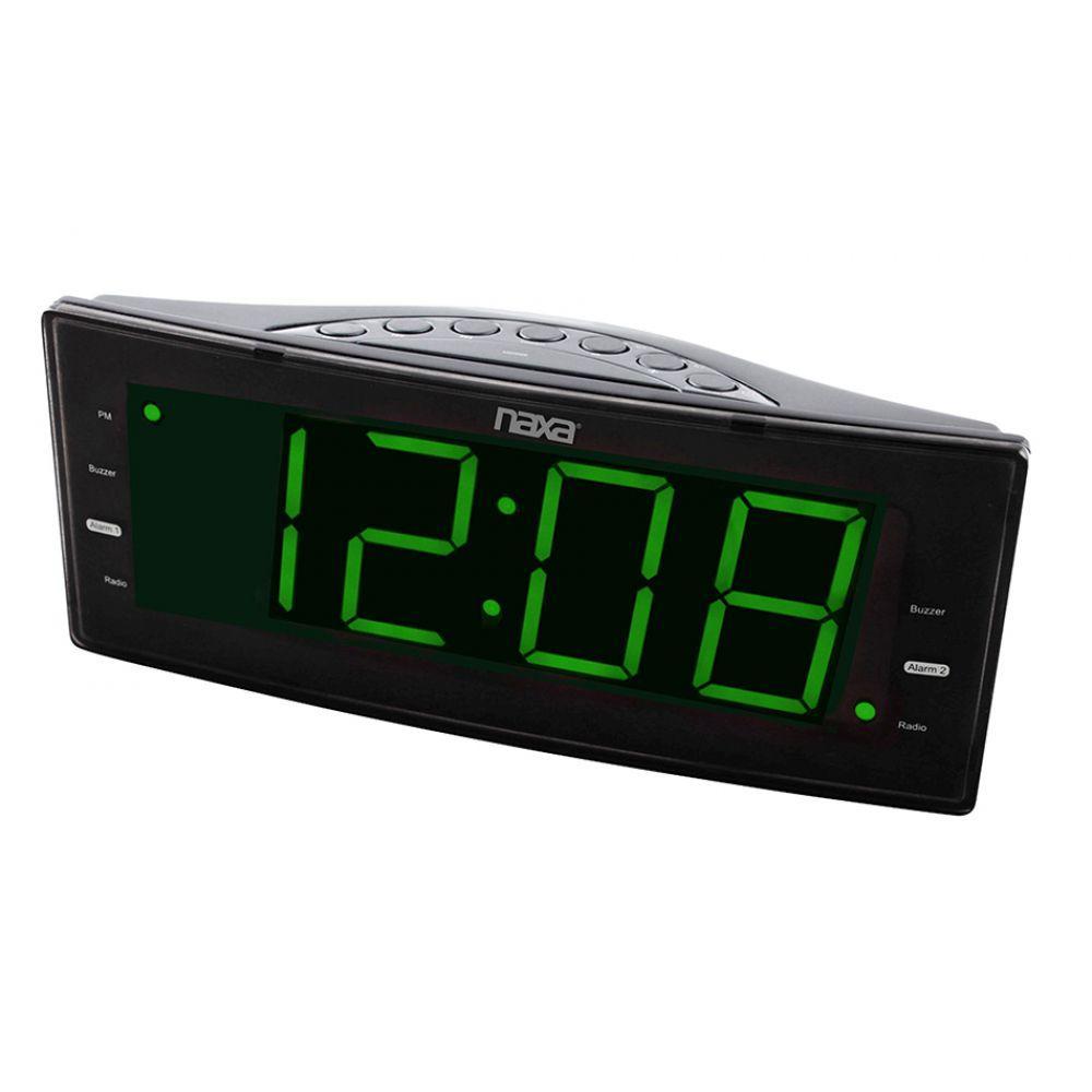 ec0922b8854 Rádio-relógio digital FM com 2 alarmes e saída USB para carga de  dispositivos eletrônicos