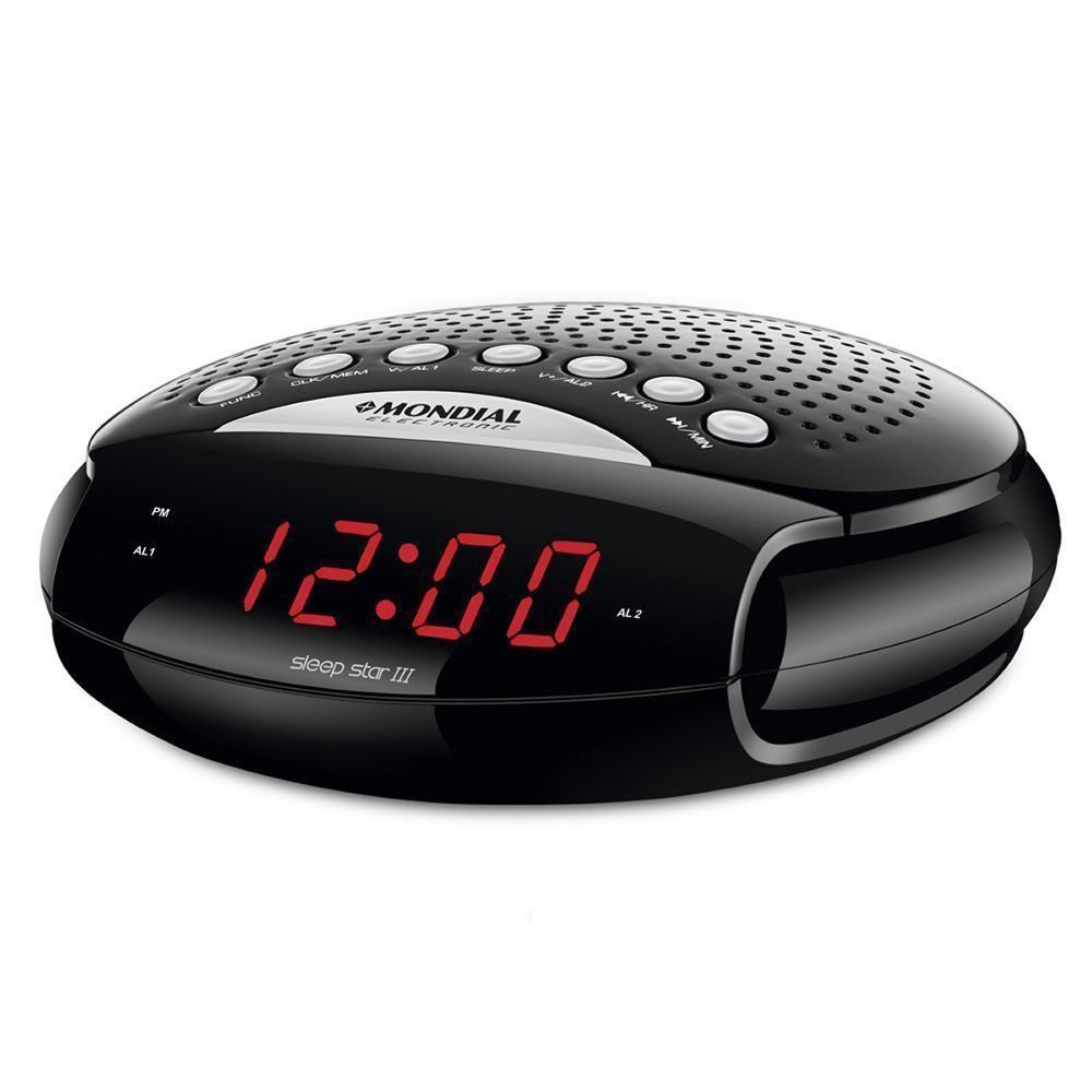a4891741674 Rádio Relógio Mondial Sleep Star Rádio Am Fm 5 W RR-03 - Bivolt