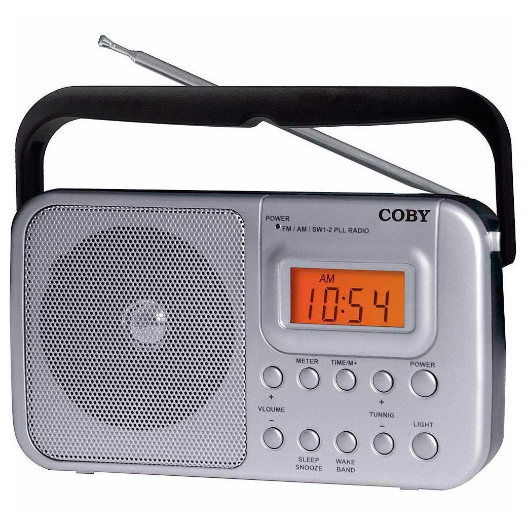 afc12767d Rádio Relógio Portátil Am Fm Sintonia Digital Cr201 Coby Produto não  disponível