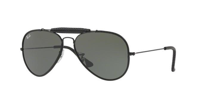 153b6f16c71ee Ray-Ban Aviador Caçador Craft RB3422Q 9040 Preto Leather Lente Verde Escuro  G15 Tam 58 Produto não disponível