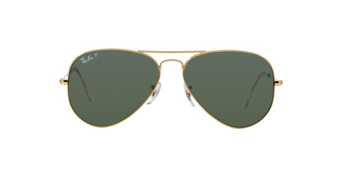Ray-Ban Aviador RB3025L 001 58 Arista Ouro Lente Polarizada Verde Escuro  G15 Tam 62 R  459 51fe0c81ea93